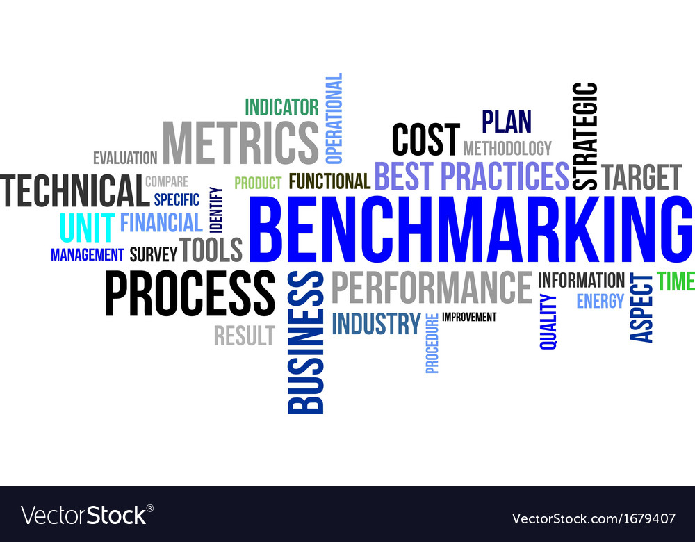 Word cloud benchmarking vector | Price: 1 Credit (USD $1)