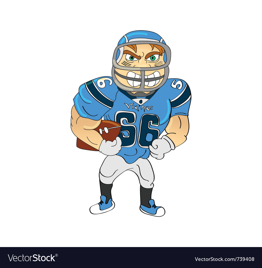 American football player vector | Price: 3 Credit (USD $3)