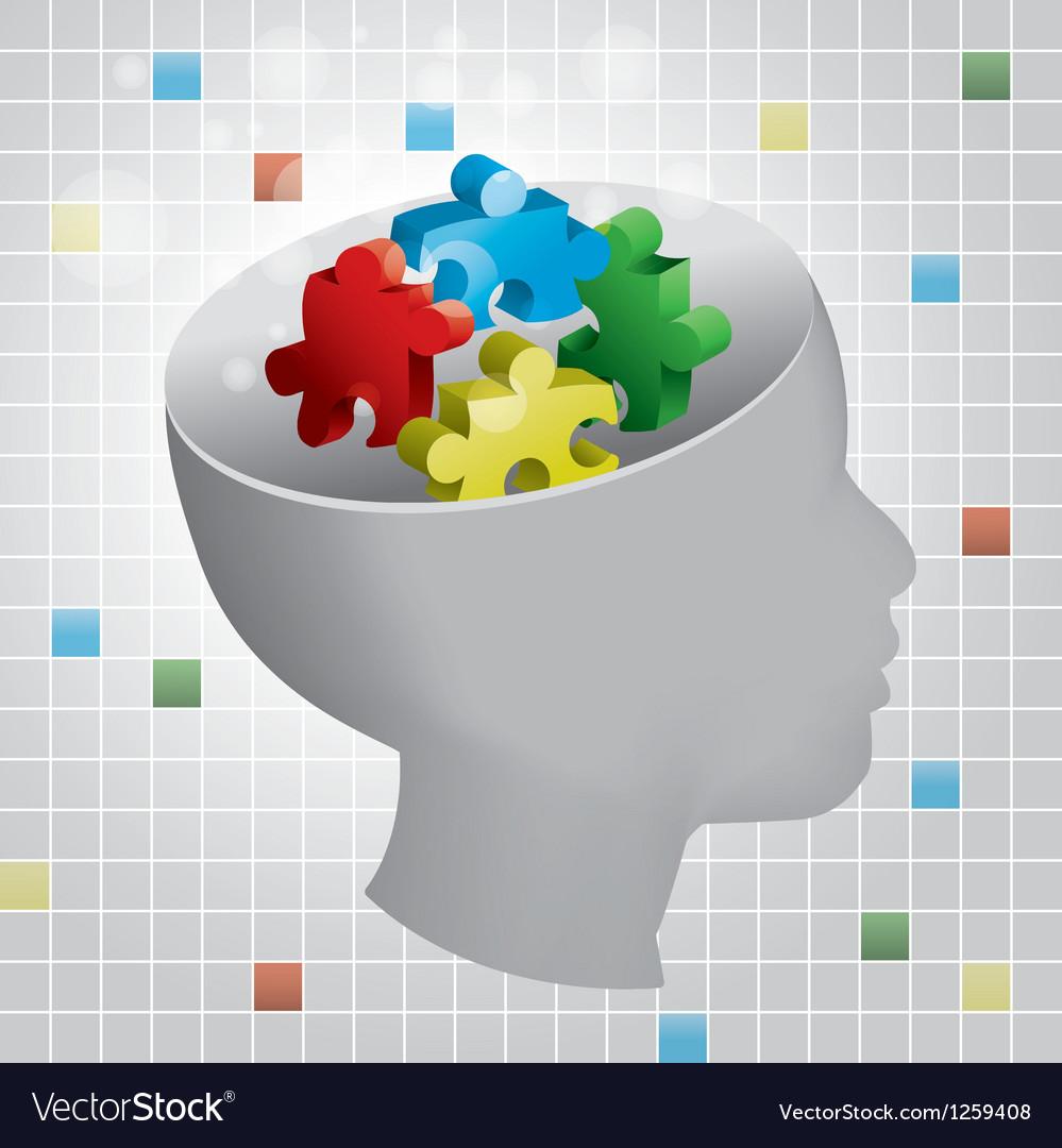 Child autism vector | Price: 1 Credit (USD $1)