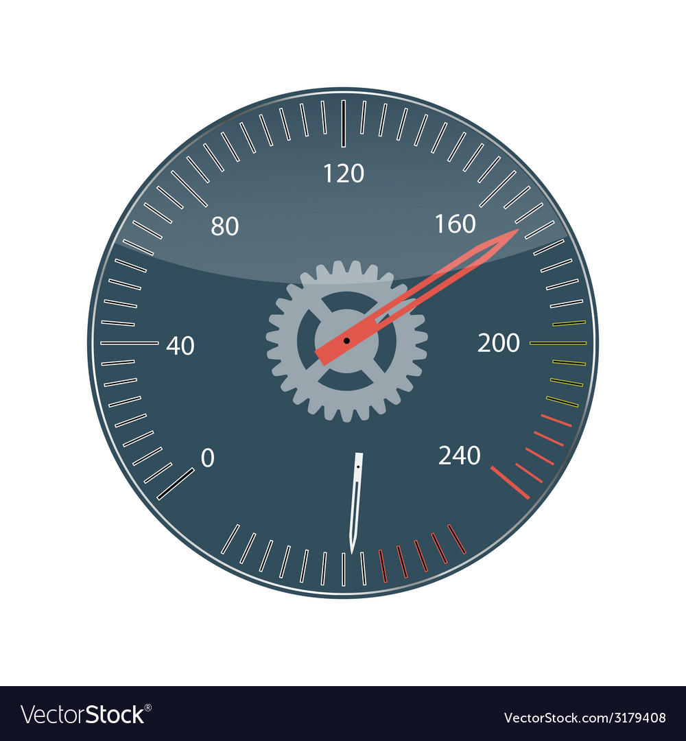 Flat design concept speedometer with long sh vector | Price: 1 Credit (USD $1)