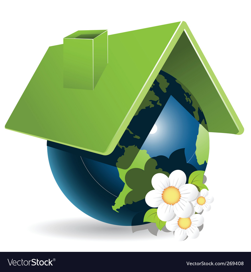 Globe house vector | Price: 1 Credit (USD $1)
