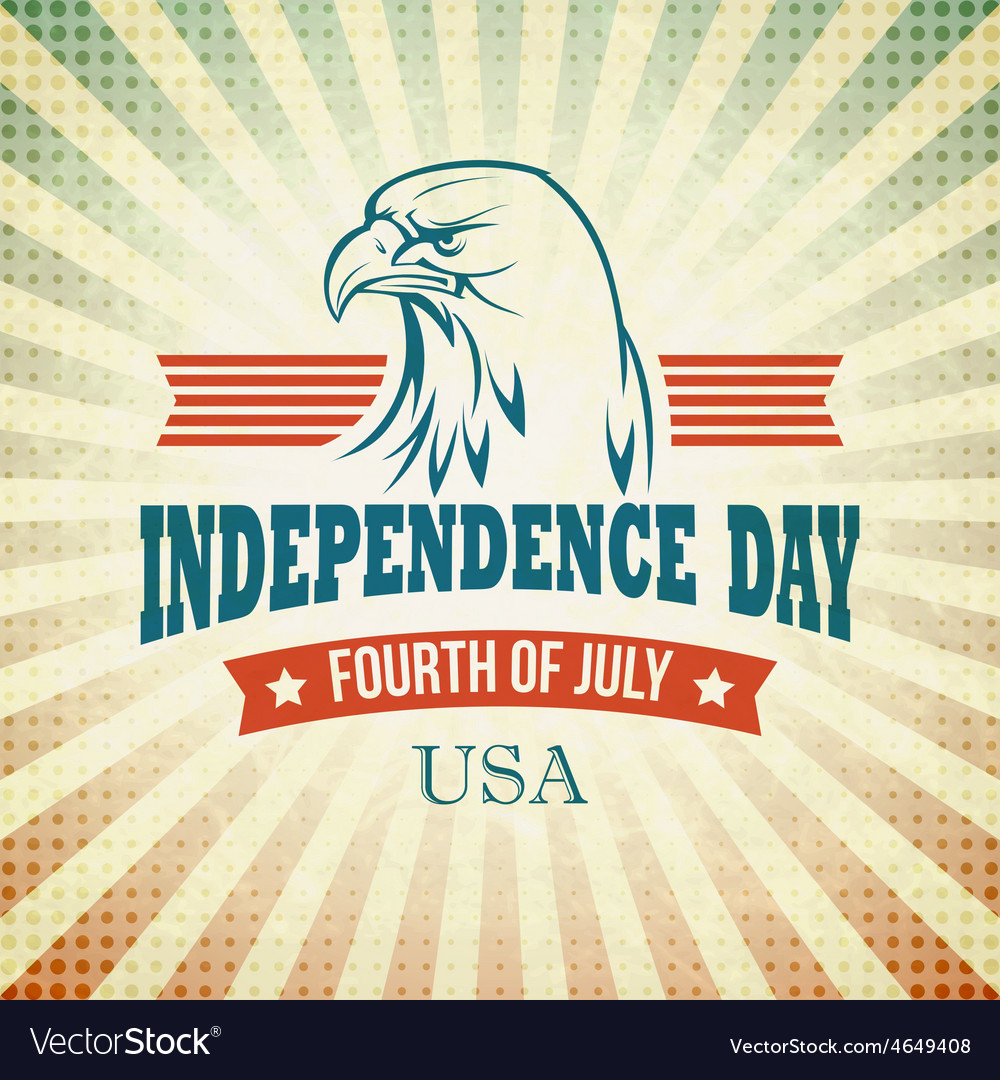 Independence day holiday card with typography and vector | Price: 1 Credit (USD $1)