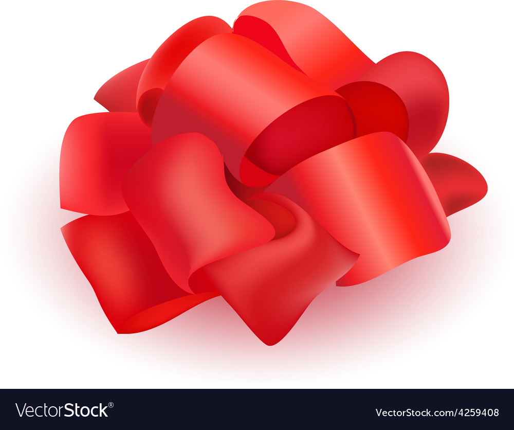 Ribbon bow for present isolated vector | Price: 1 Credit (USD $1)