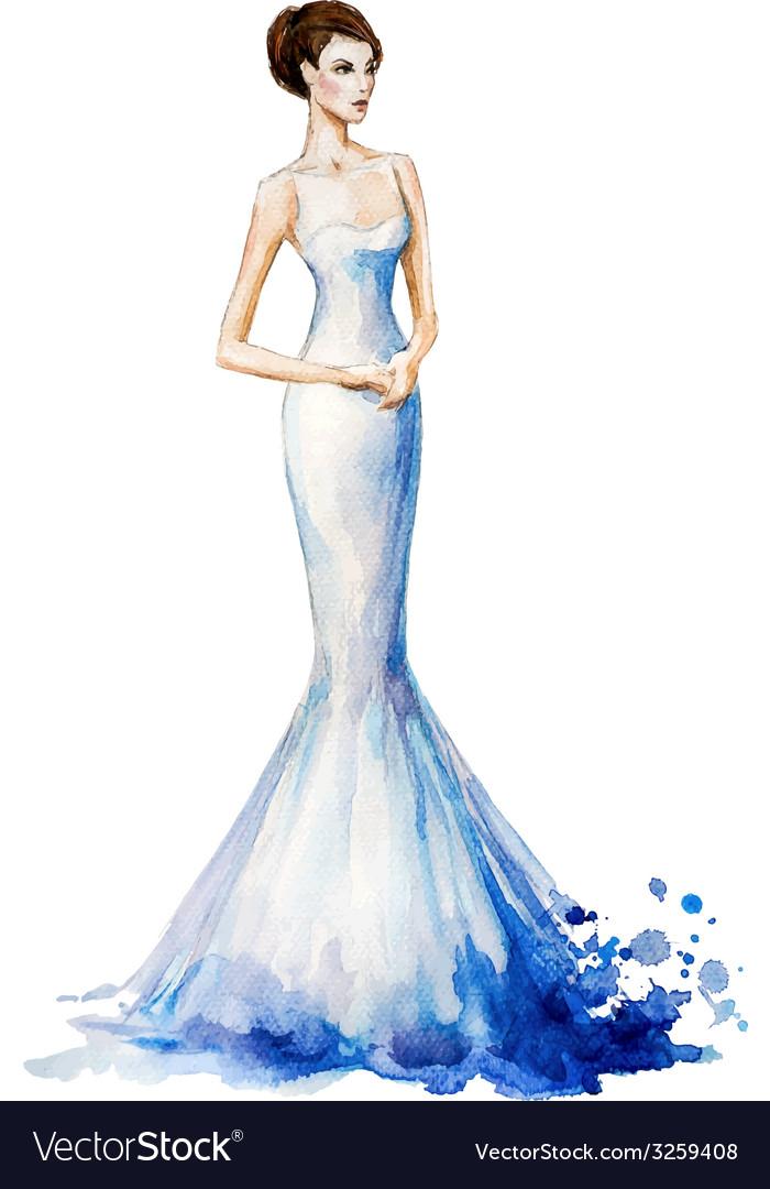 Watercolor fashion vector | Price: 3 Credit (USD $3)