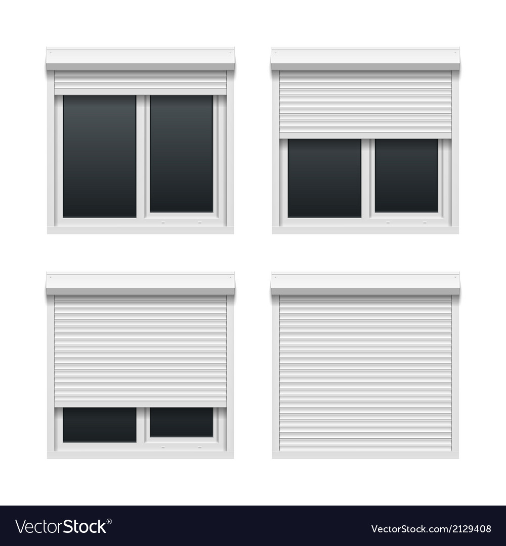 Window with roller shutters vector | Price: 1 Credit (USD $1)