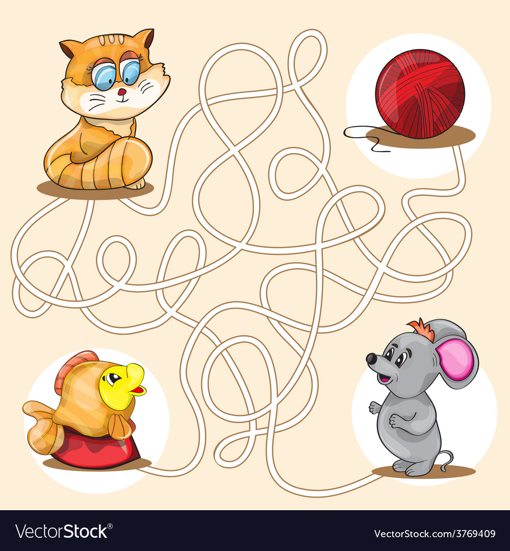 Cartoon of education maze vector | Price: 1 Credit (USD $1)