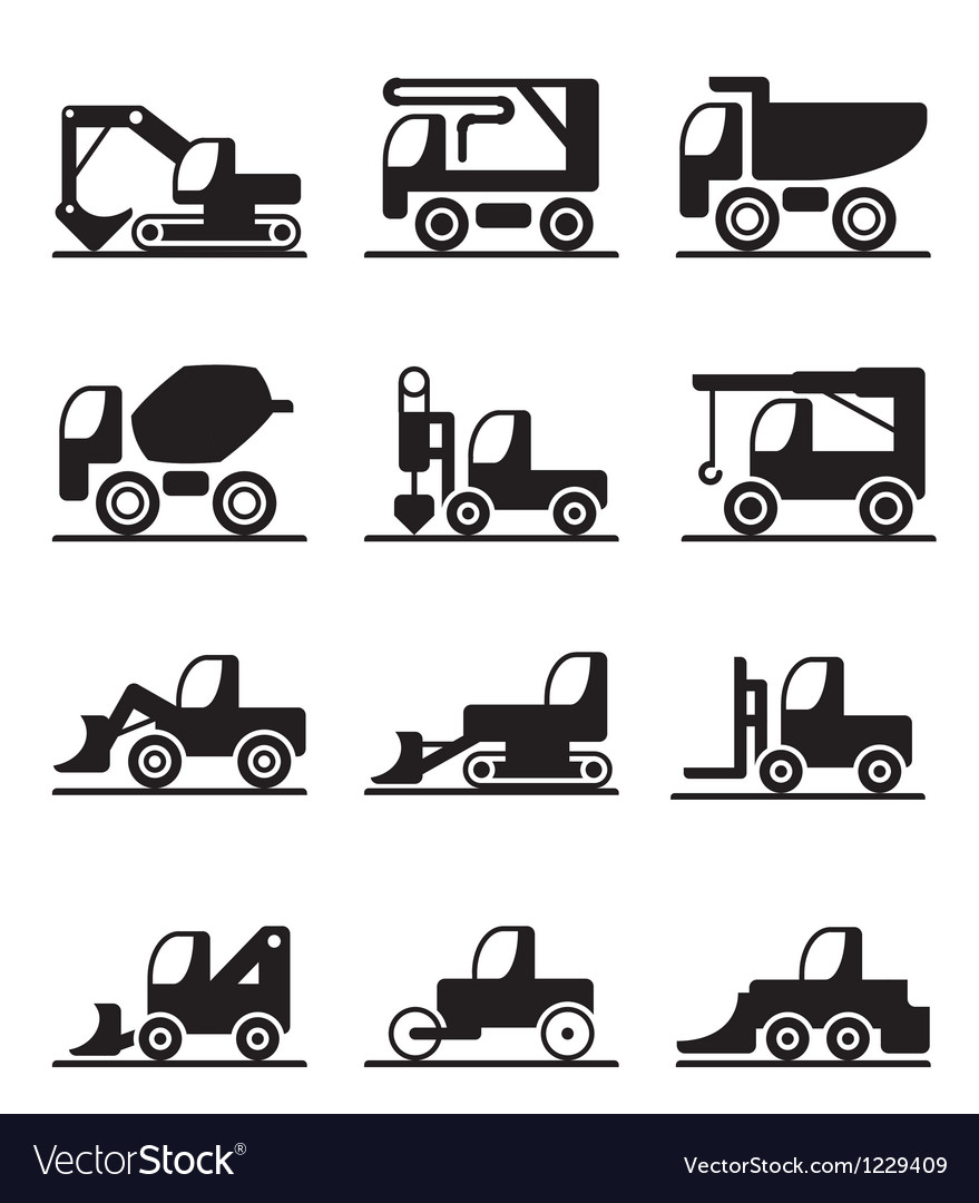 Construction trucks and vehicles vector | Price: 1 Credit (USD $1)