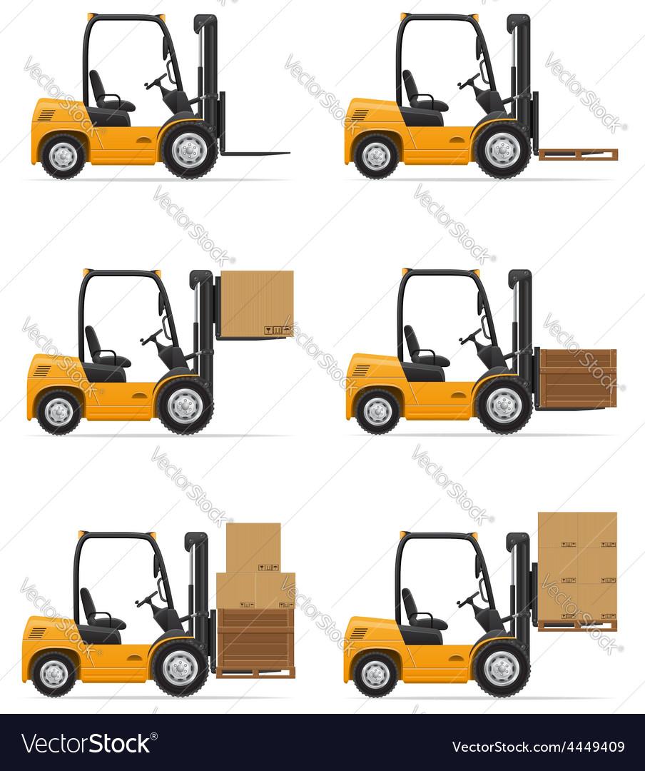 Forklift truck 07 vector