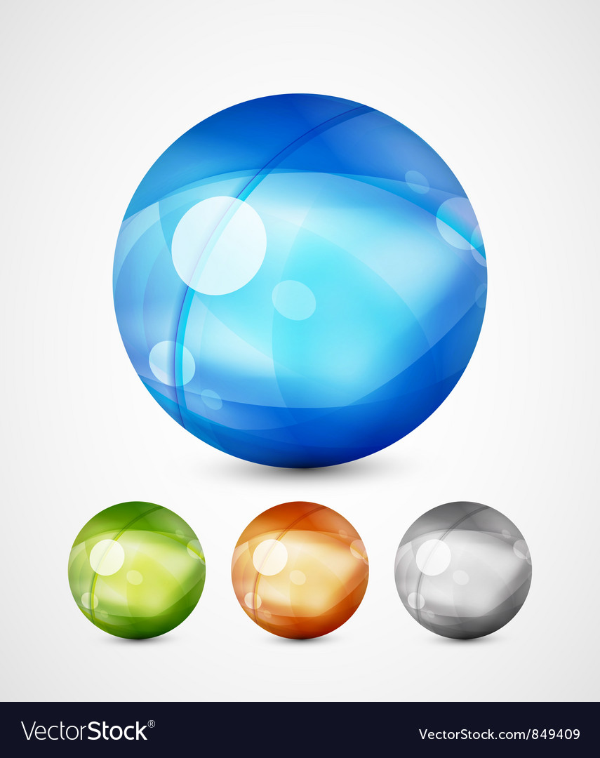 Glass sphere icons vector | Price: 1 Credit (USD $1)
