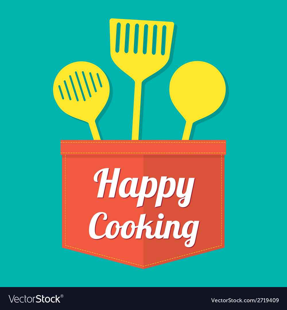 Happy cooking vector | Price: 1 Credit (USD $1)