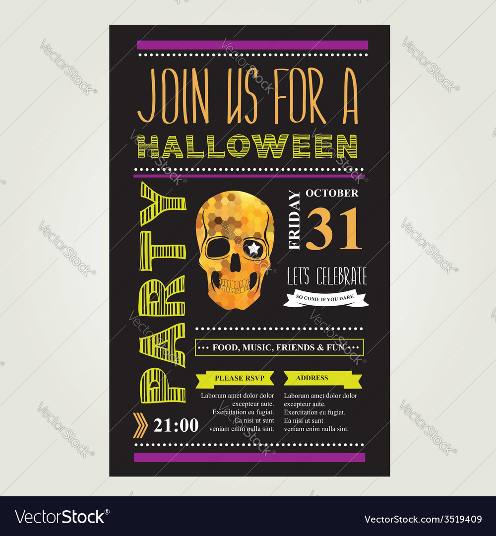Invitation halloween vector | Price: 1 Credit (USD $1)