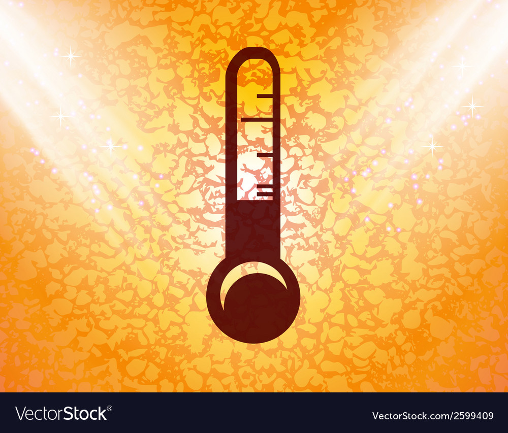 Thermometer flat modern web button and space for vector | Price: 1 Credit (USD $1)