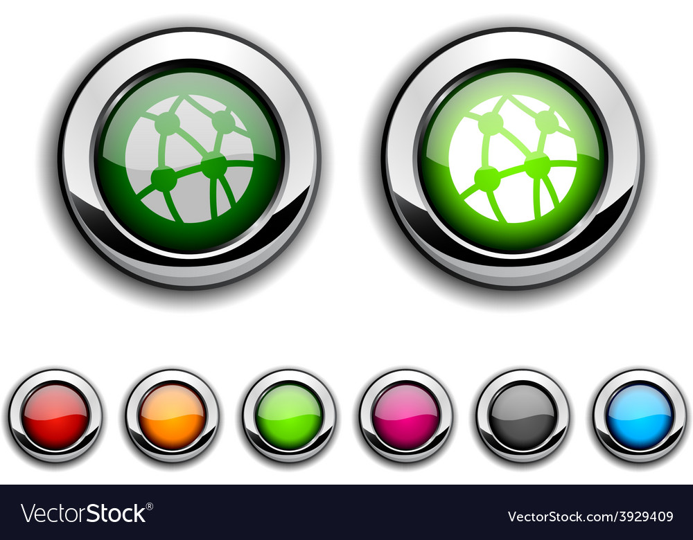 Network button vector | Price: 1 Credit (USD $1)