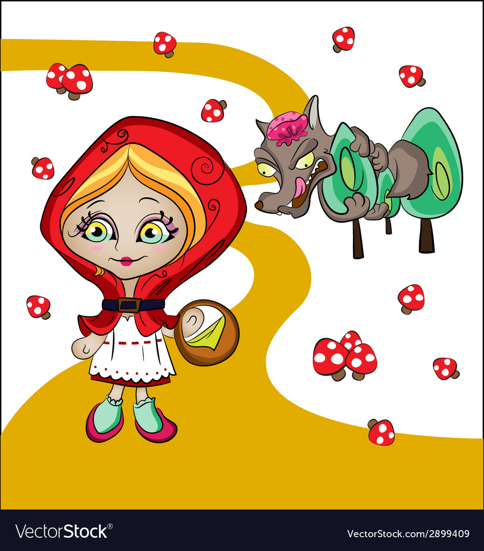 Red riding hood vector | Price: 1 Credit (USD $1)