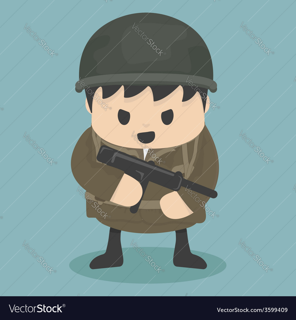Soldier vector | Price: 1 Credit (USD $1)