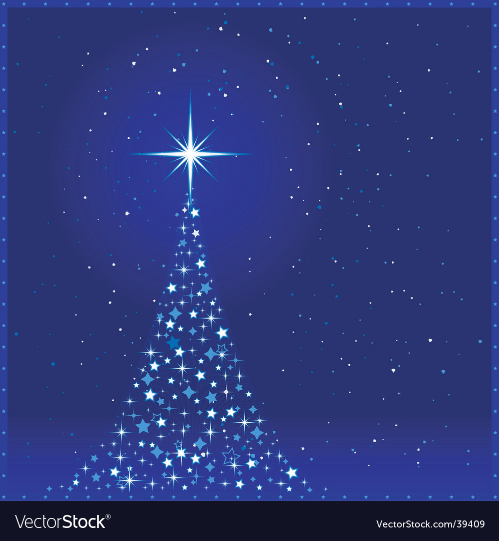 Square blue christmas tree vector | Price: 1 Credit (USD $1)