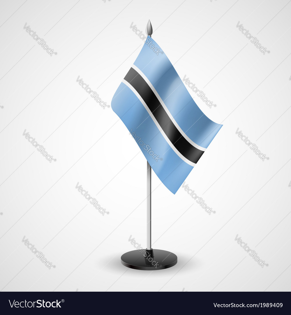 Table flag of botswana vector | Price: 1 Credit (USD $1)