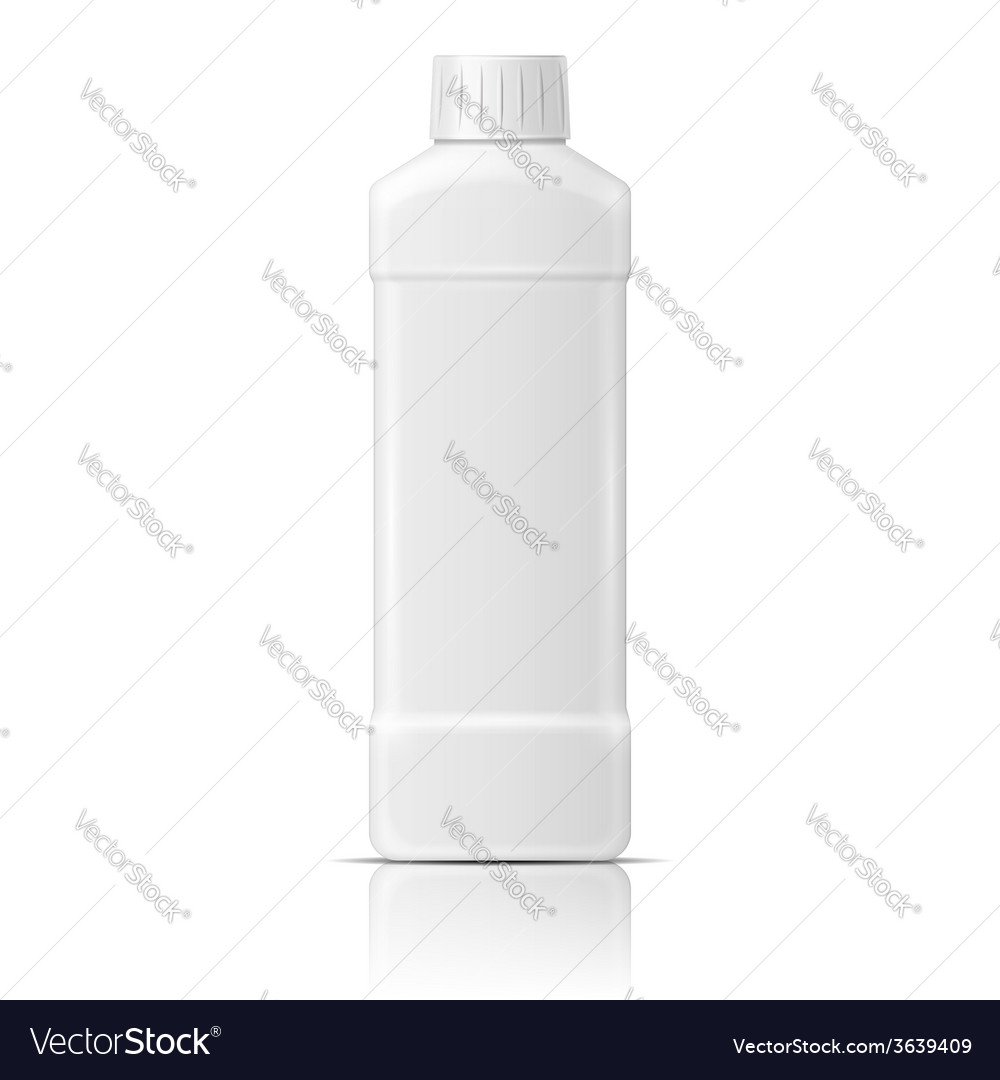 White plastic bottle for dishwashing liquid vector | Price: 1 Credit (USD $1)