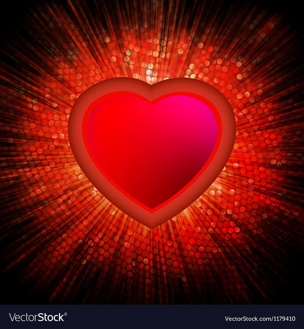 Abstract heart burst background eps 8 vector | Price: 1 Credit (USD $1)