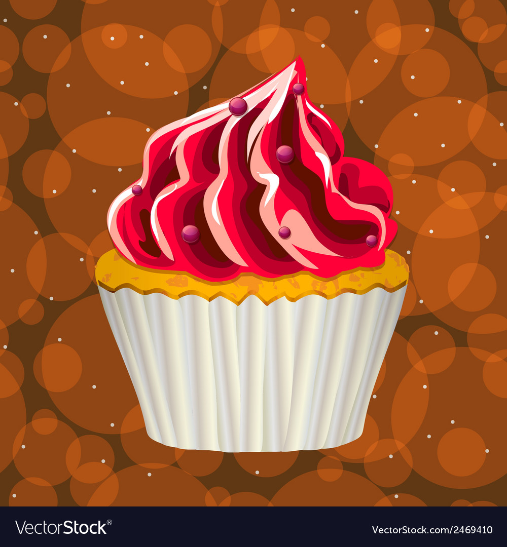 Cake with cream on a colorful background vector | Price: 1 Credit (USD $1)