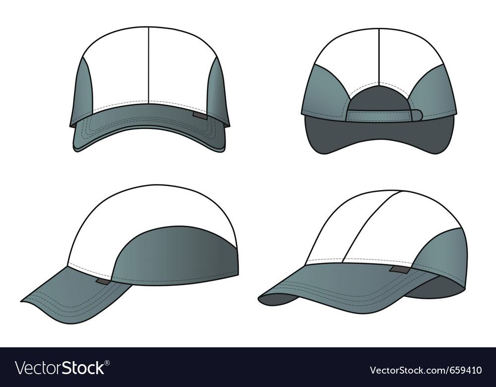 Cap template vector | Price: 1 Credit (USD $1)