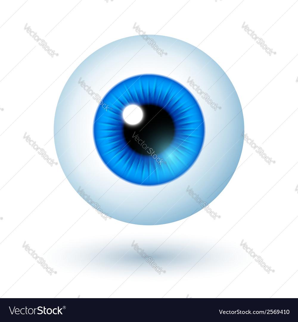 Cartoon blue eye vector