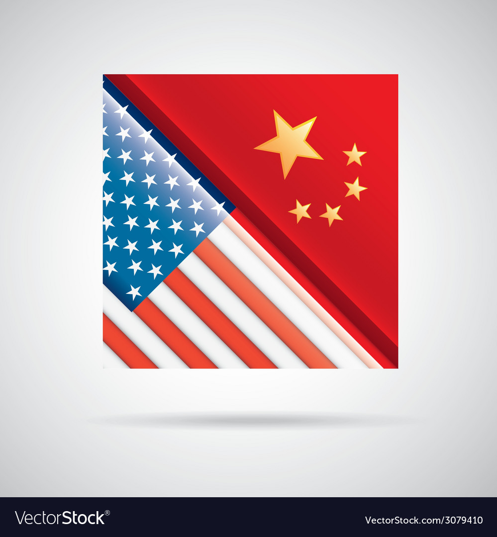 China and usa design vector | Price: 1 Credit (USD $1)