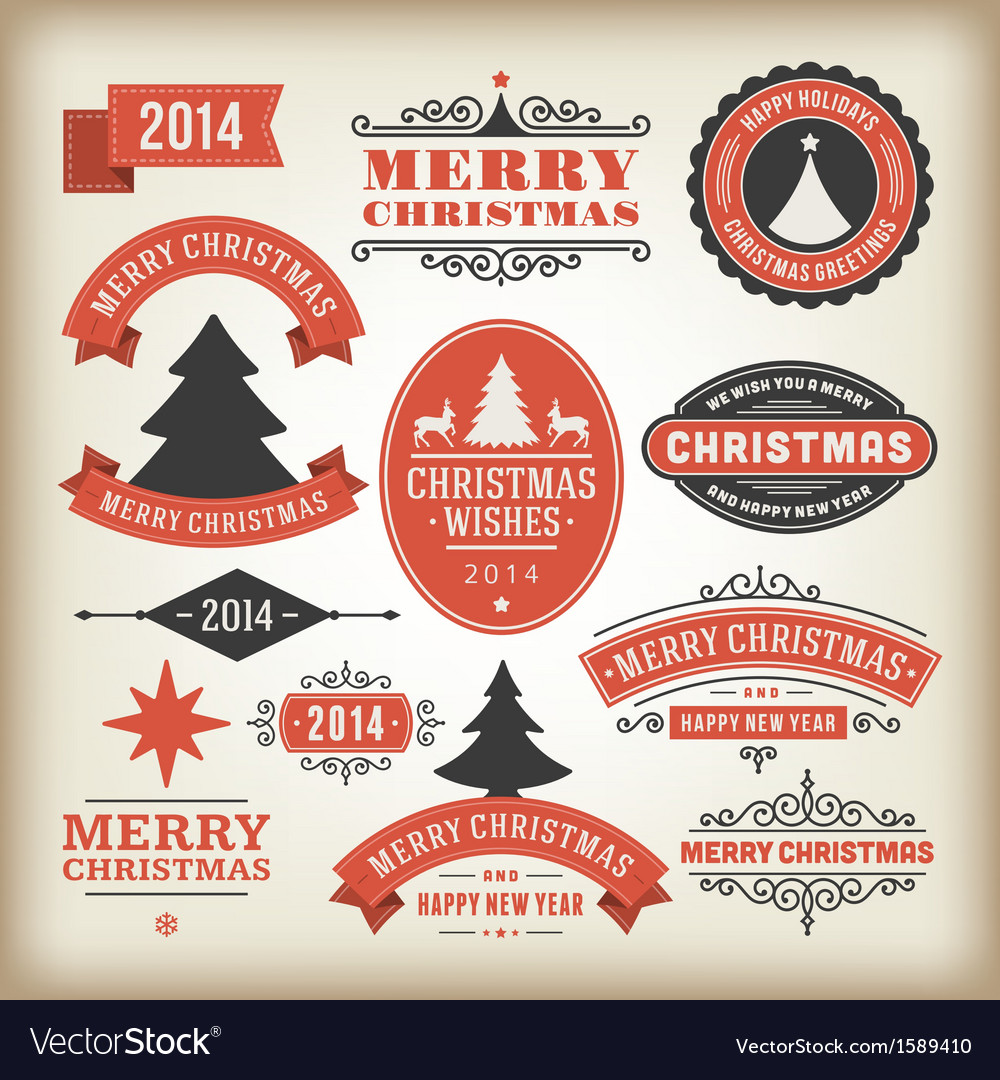Christmas decoration design elements collec vector | Price: 1 Credit (USD $1)