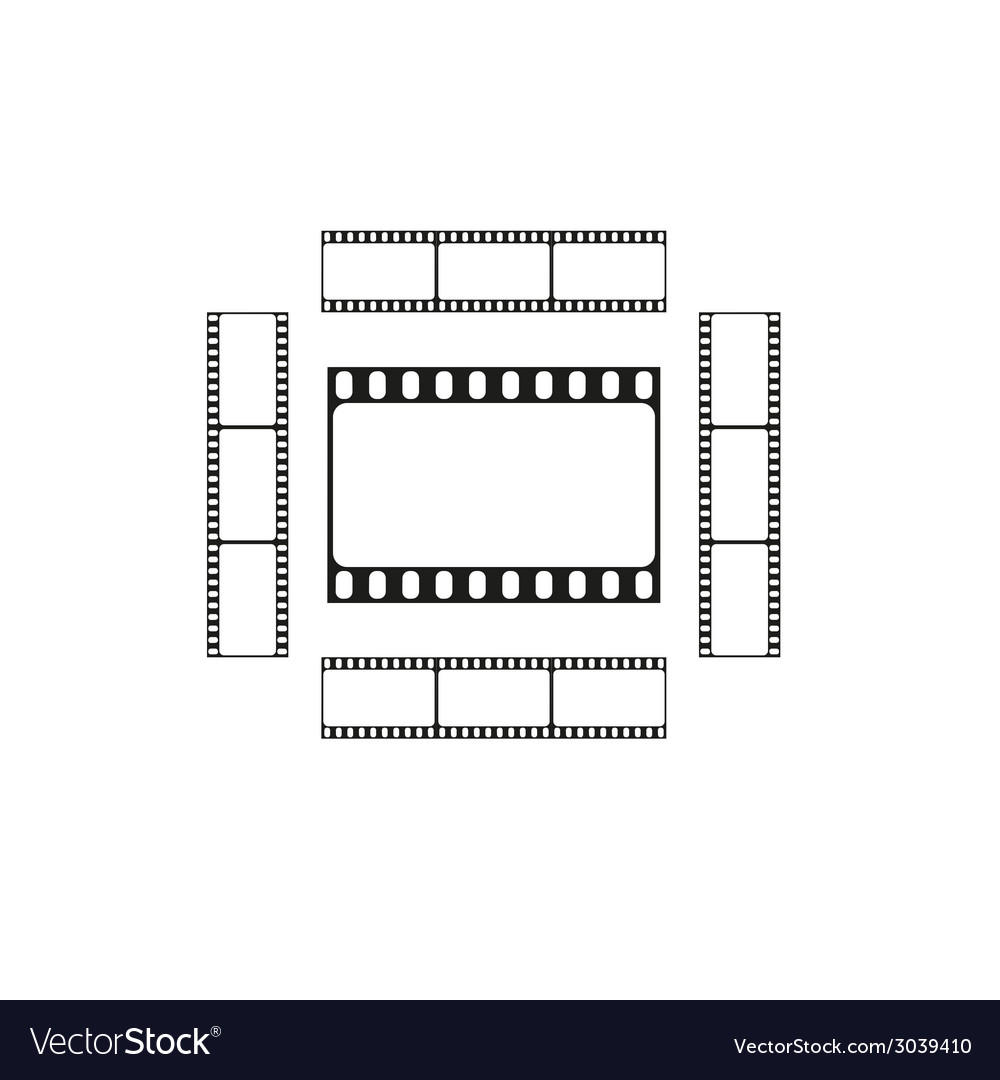 Cinema logo movie theater sign film strips card vector | Price: 1 Credit (USD $1)