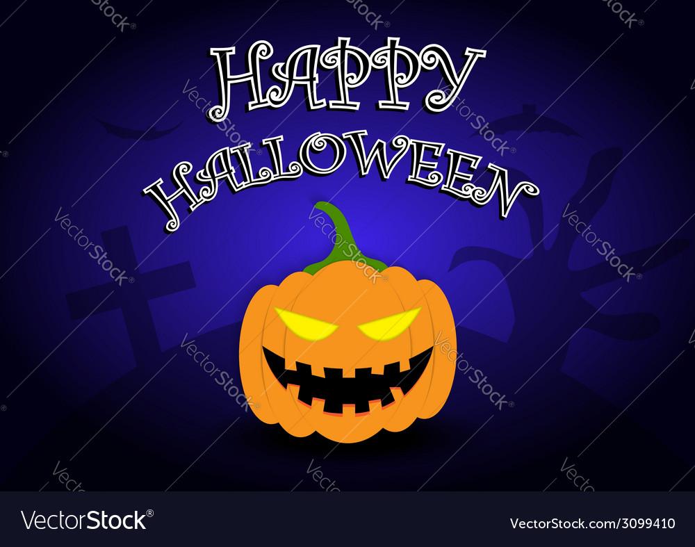 Halloween background with pumpkin head vector | Price: 1 Credit (USD $1)