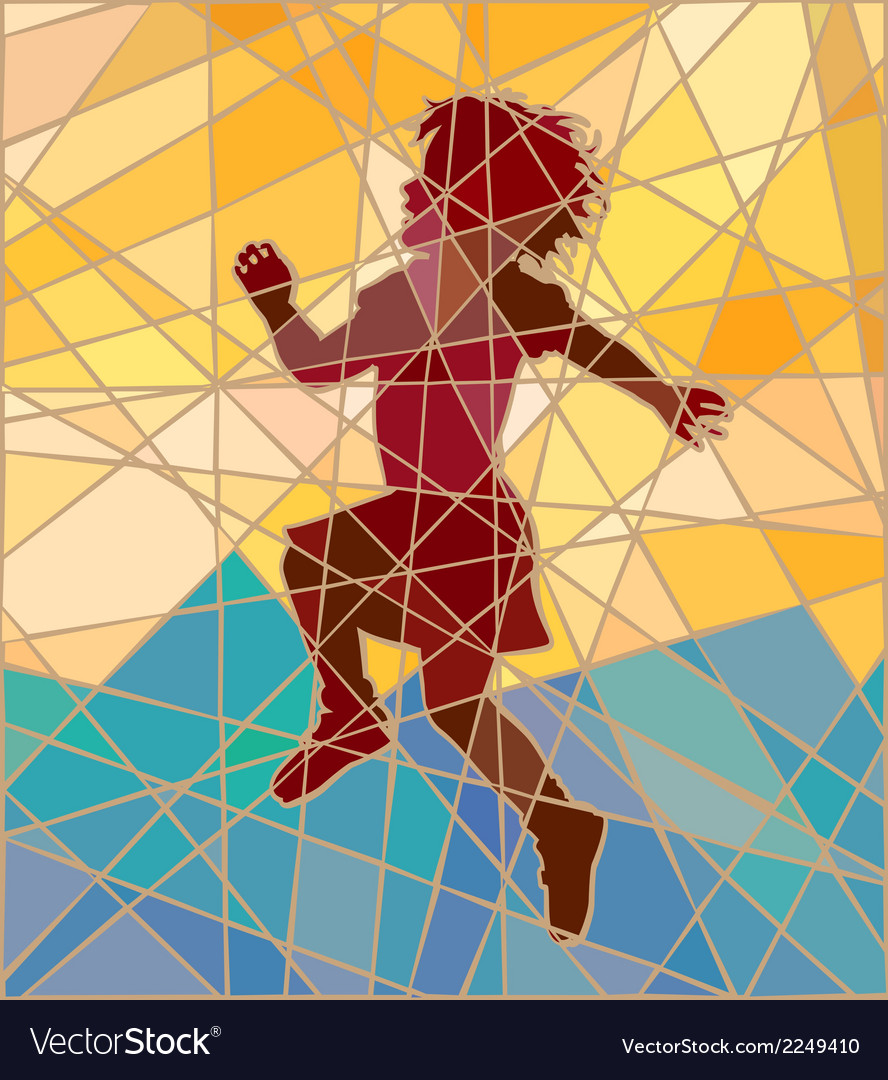 Happy girl mosaic vector | Price: 1 Credit (USD $1)