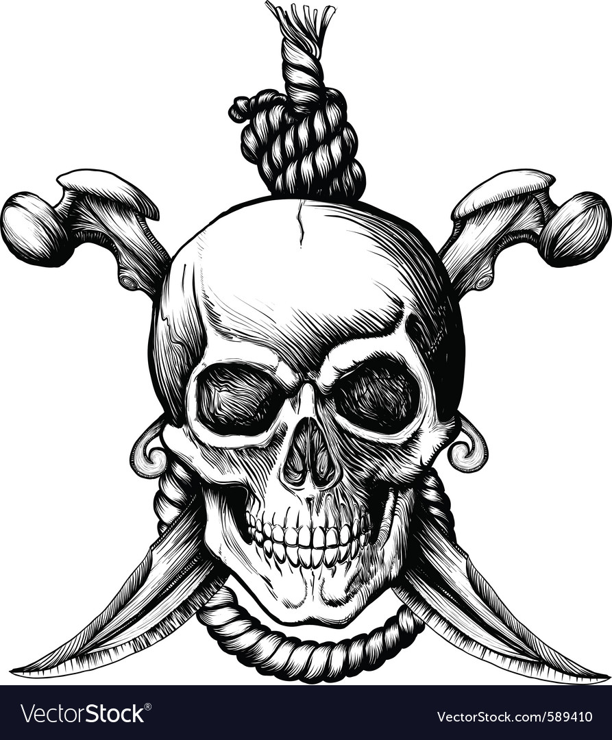 Jolly roger skull vector | Price: 1 Credit (USD $1)