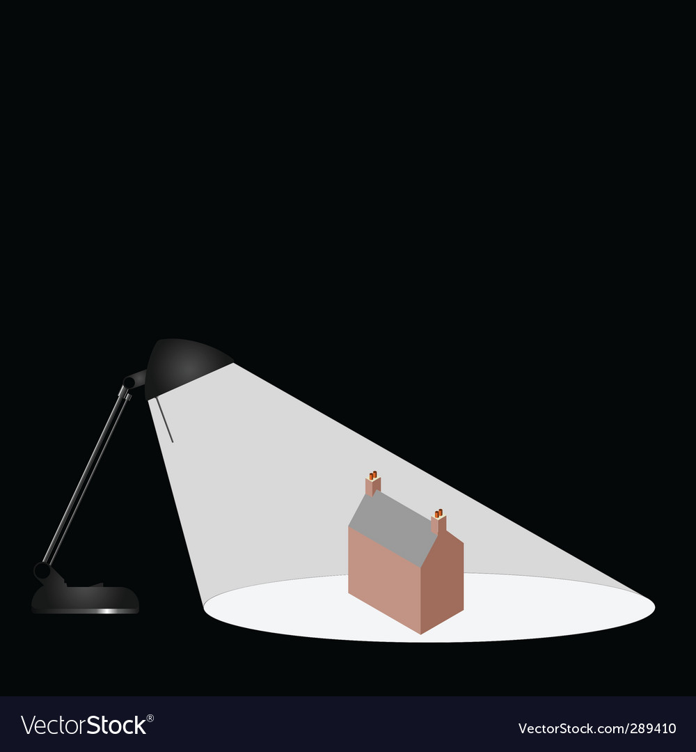 Lamp house vector | Price: 1 Credit (USD $1)