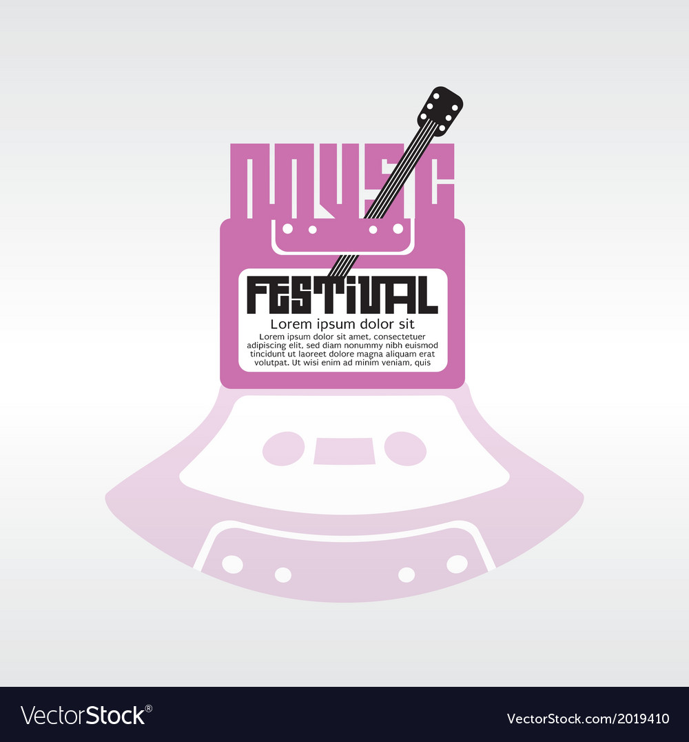 Music festival vector | Price: 1 Credit (USD $1)