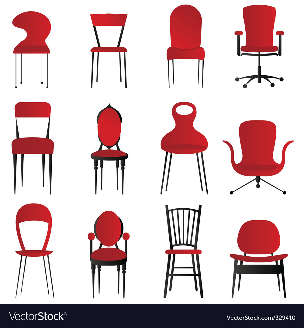 Red chairs vector | Price: 1 Credit (USD $1)