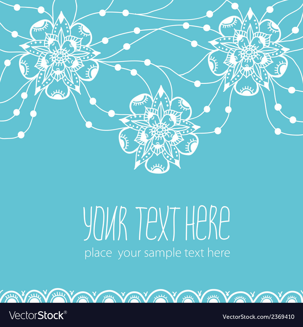 Template of greeting card with flowers vector | Price: 1 Credit (USD $1)