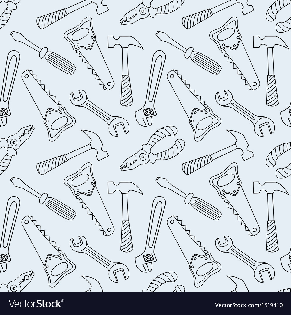 Tools seamless line pattern vector | Price: 1 Credit (USD $1)