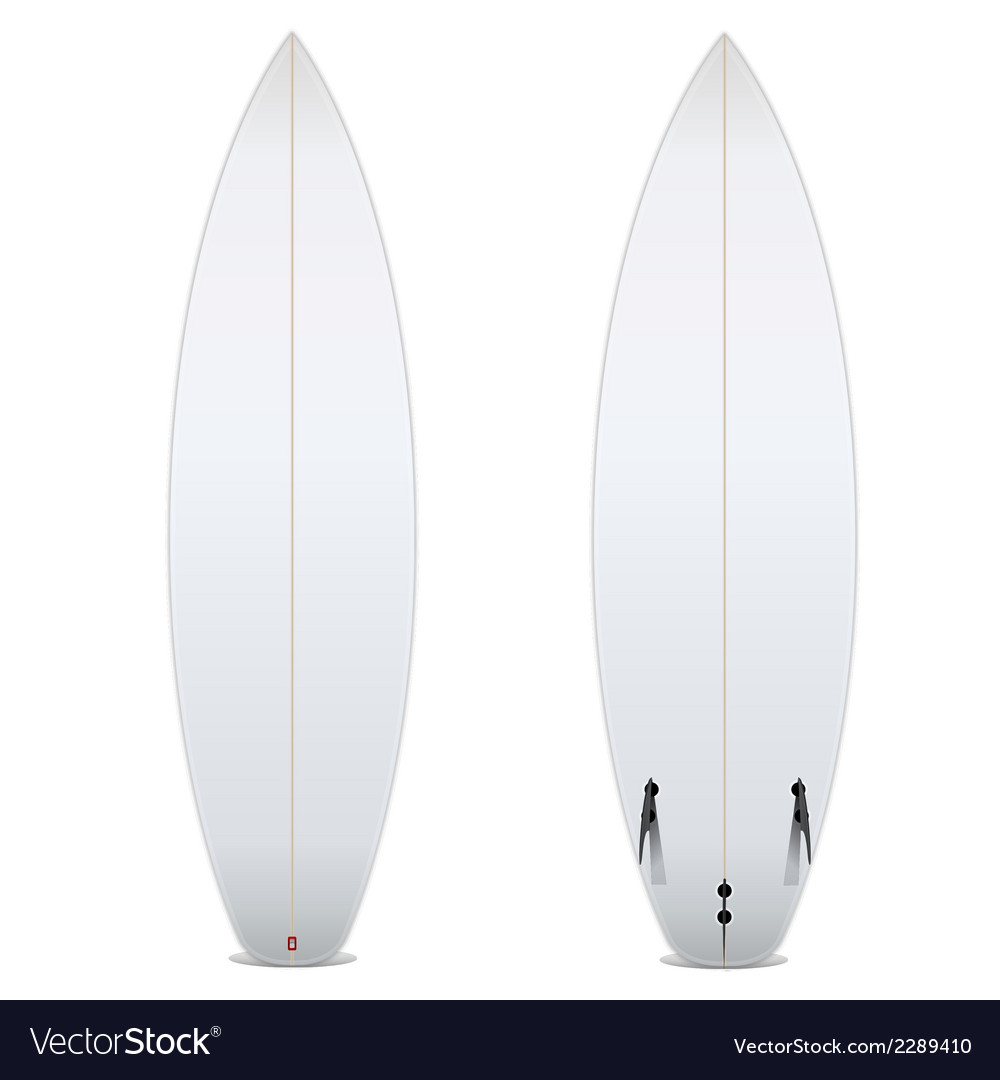 Two-sided blank surfboard vector | Price: 1 Credit (USD $1)