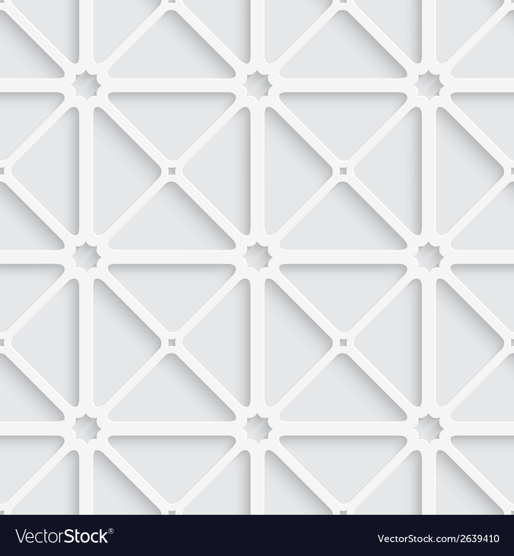 White triangular net with shadow tile ornament vector | Price: 1 Credit (USD $1)