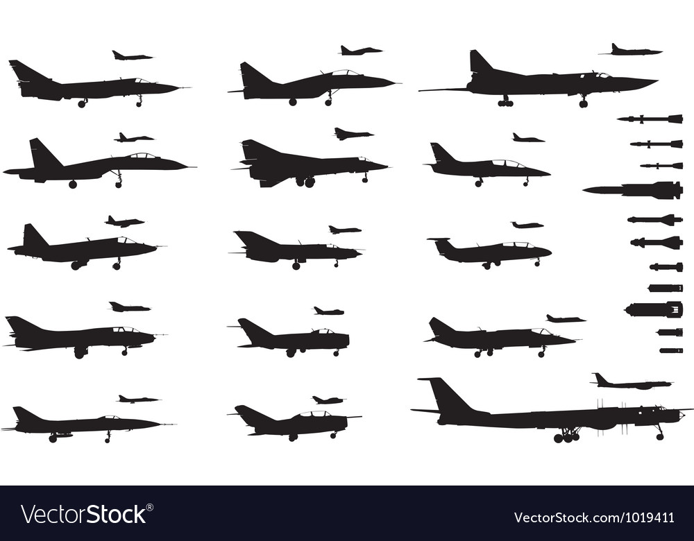 Aircrafts set vector | Price: 1 Credit (USD $1)