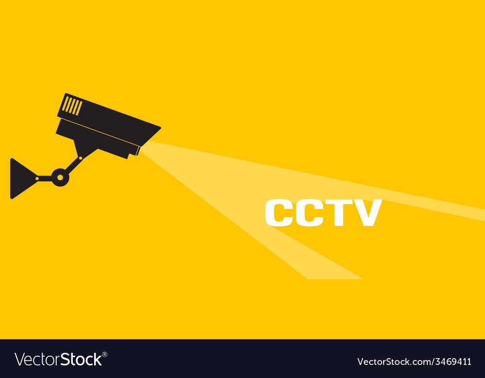 Cctv icon orange vector | Price: 1 Credit (USD $1)