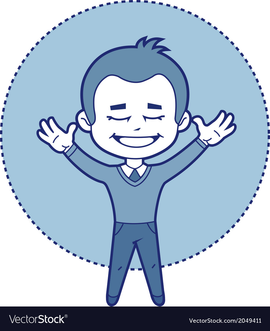 Character manager smiling vector | Price: 1 Credit (USD $1)