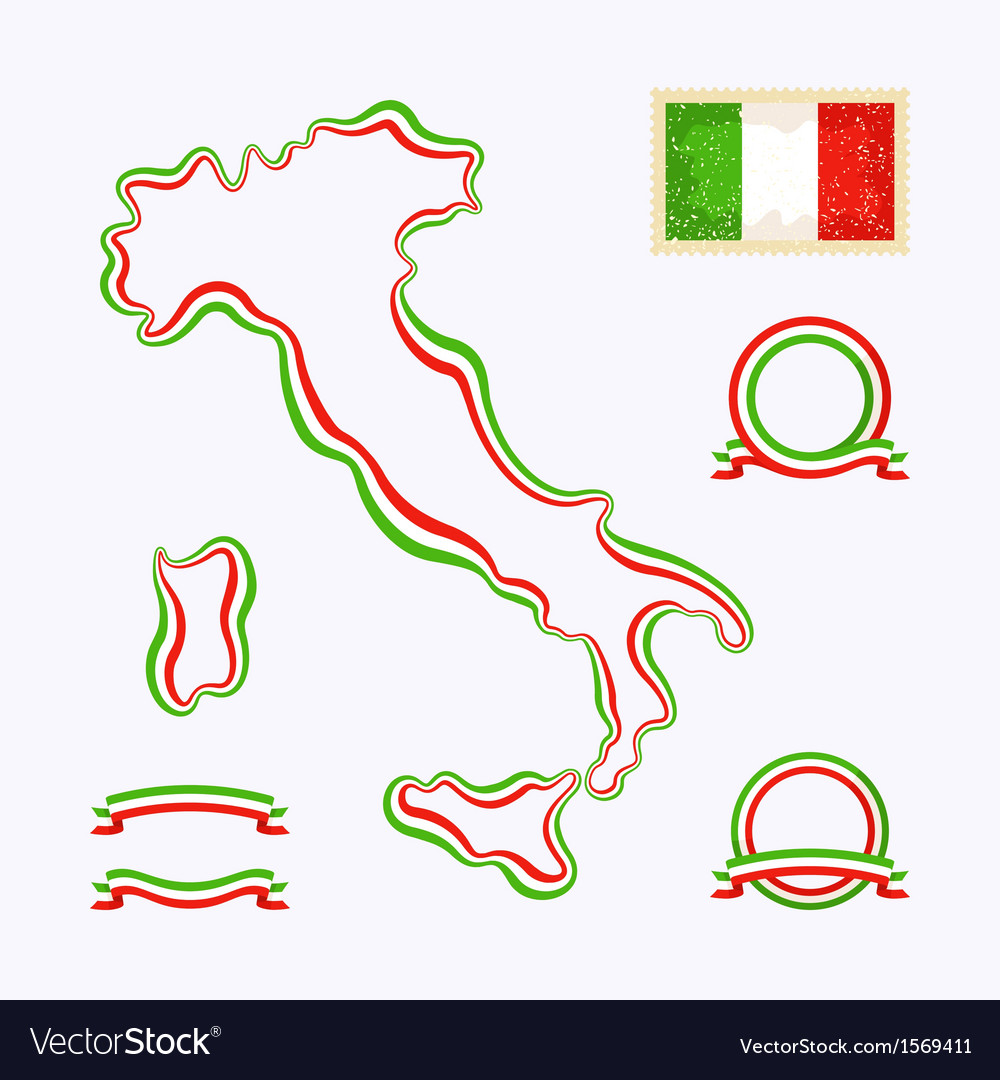 Colors of italy vector | Price: 1 Credit (USD $1)