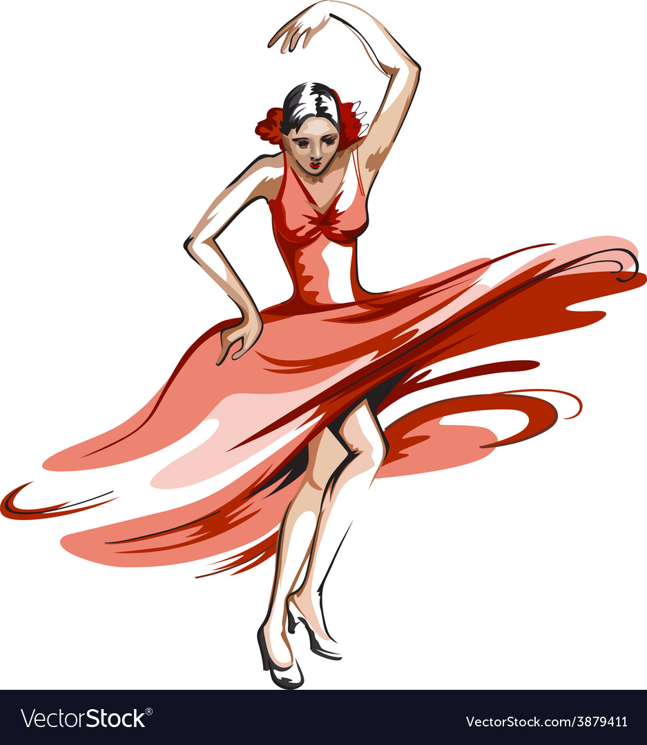 Flamenco dance vector | Price: 1 Credit (USD $1)