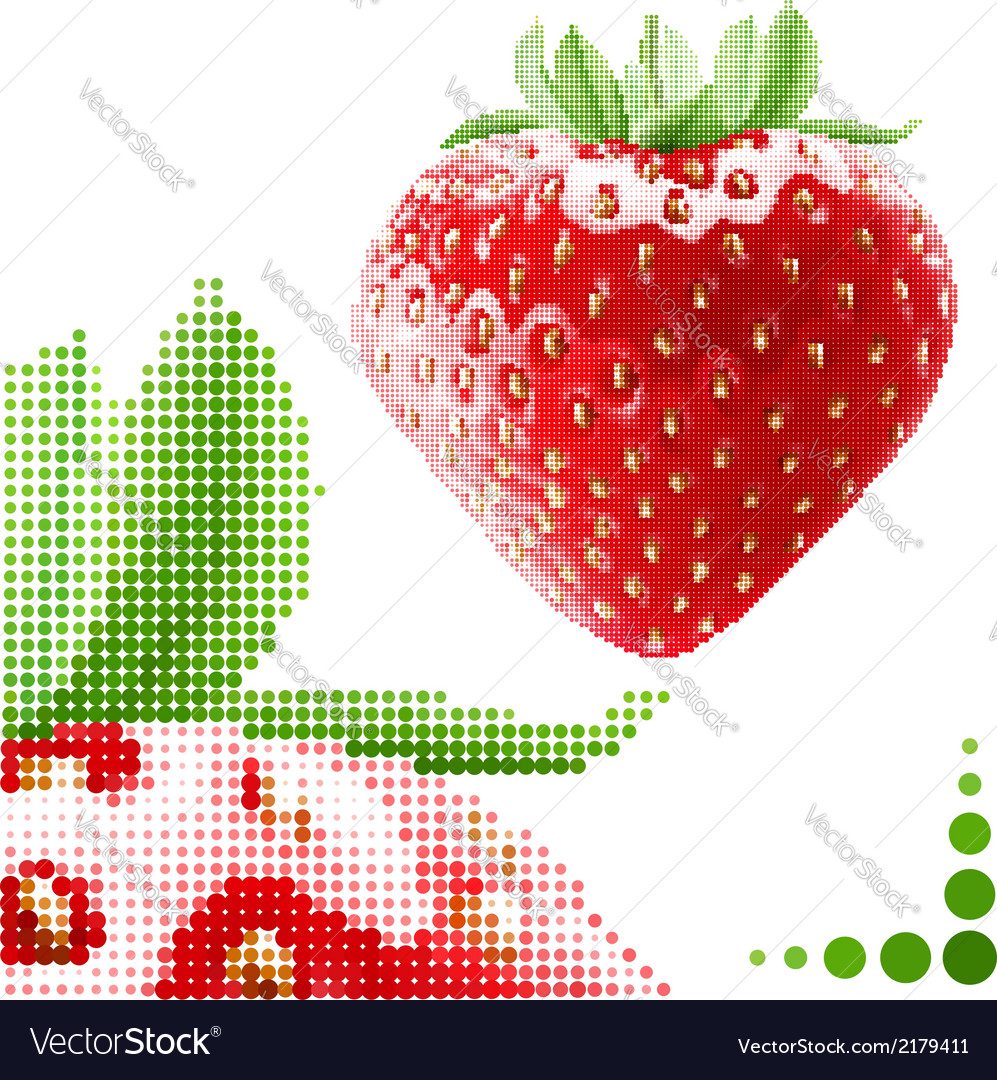 Halftone strawberry vector | Price: 1 Credit (USD $1)