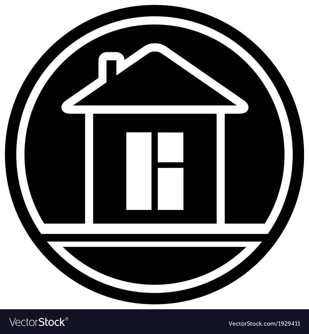 Icon with home and window silhouette vector | Price: 1 Credit (USD $1)