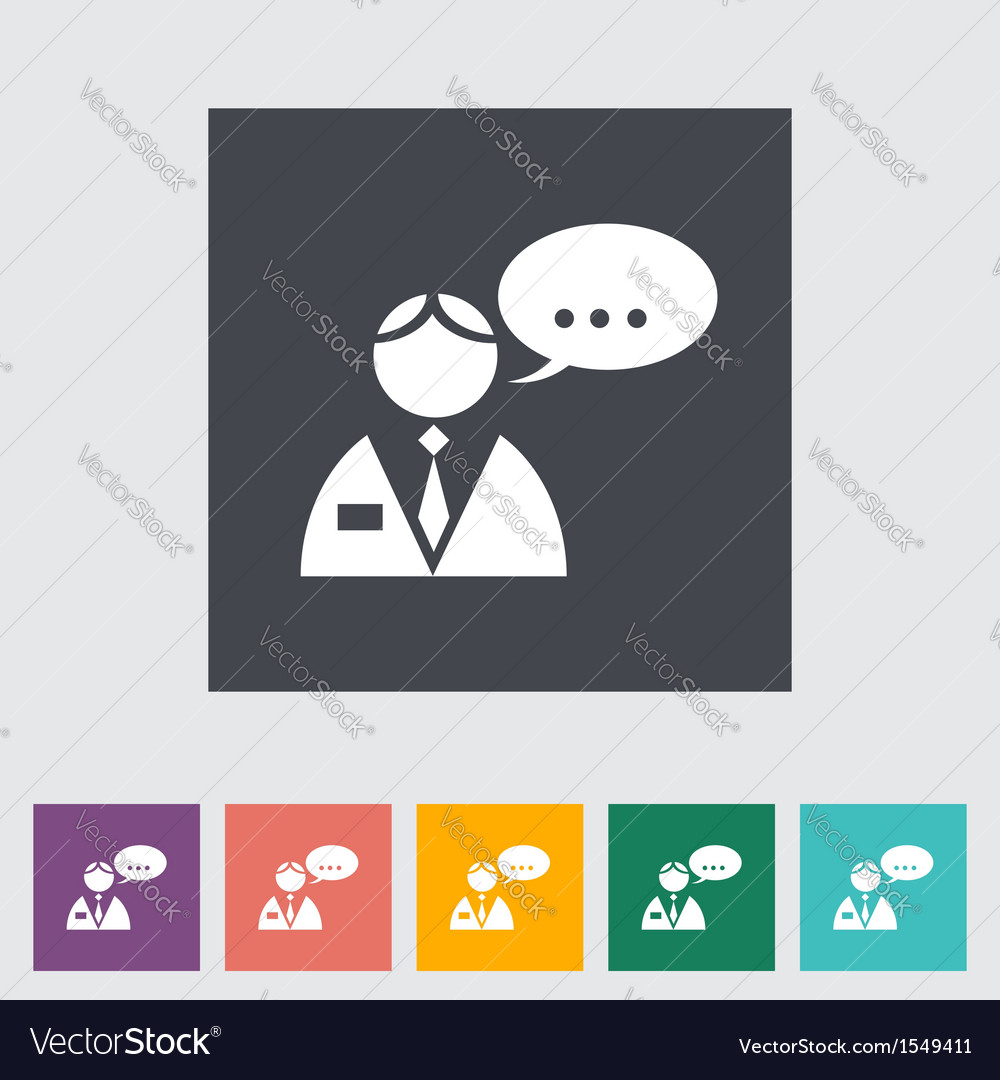 Man speak vector | Price: 1 Credit (USD $1)