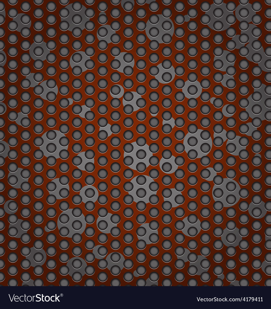 Perforated metal abstract background vector | Price: 1 Credit (USD $1)