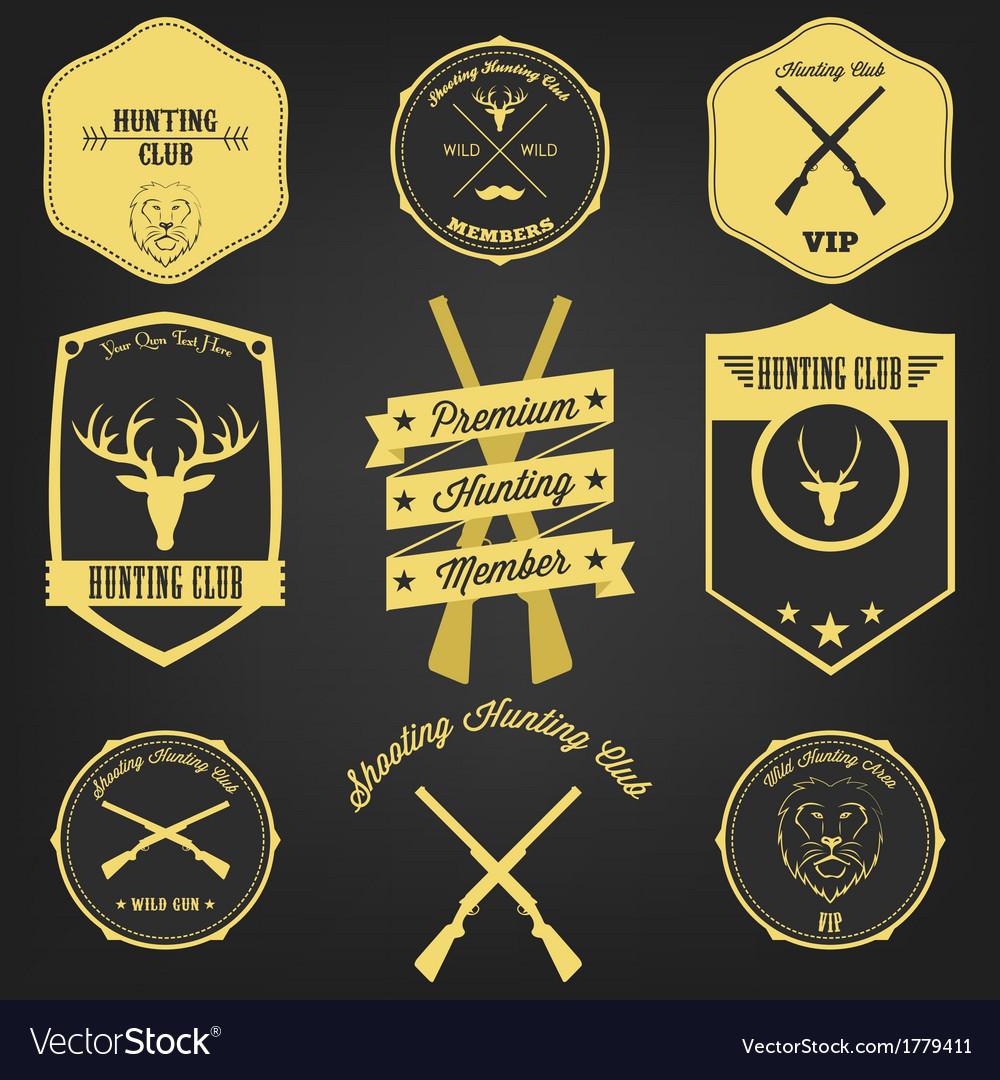 Premium hunting vintage label vector | Price: 1 Credit (USD $1)