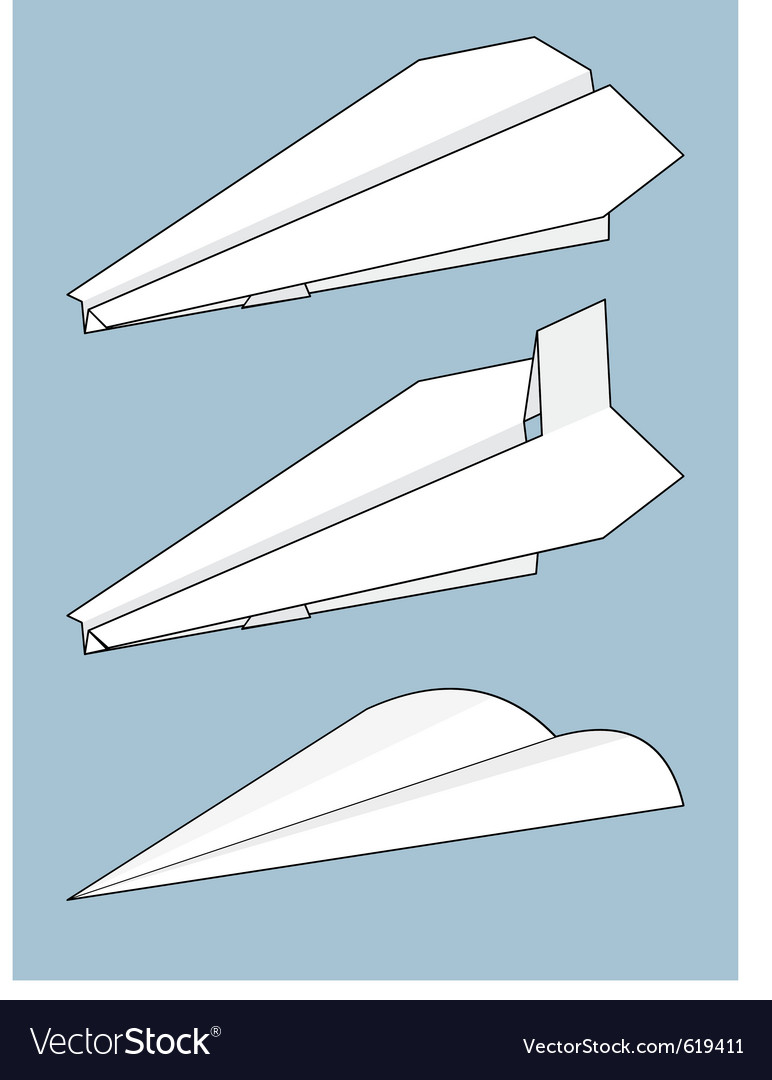 Set of paper airplanes origami vector | Price: 1 Credit (USD $1)